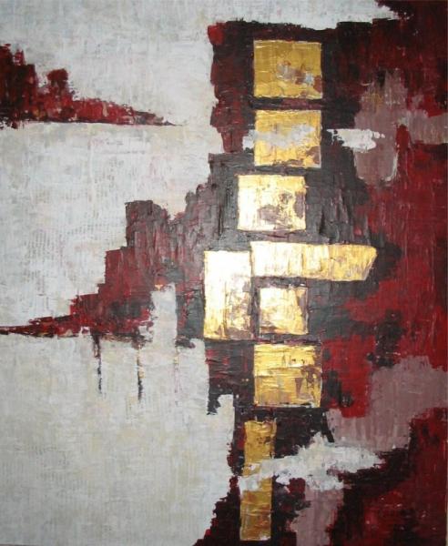 TABLEAU PEINTURE Abstrait Acrylique  - carrure