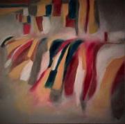 tableau abstrait : friperie