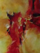 tableau abstrait : Rouge