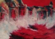 tableau abstrait : tempête