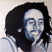 tableau personnages acrylique marley peinture : Bob Marley