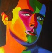 tableau personnages rugbyman acrylique portrait : Andrea Marcato
