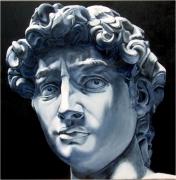 tableau personnages michelange huile david : Le David de Michel-Ange