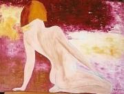 tableau nus peintures huile acrylique au couteau pastel : CLAUDIA