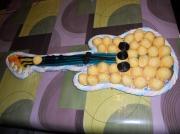 artisanat dart sport guitare guimauve rock bonbons : guitare jaune