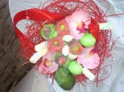 tableau fleurs fleurs bonbons deco compositions : corbeille rouge