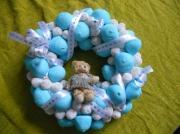 mixte animaux argent bleu bonbons couronne : ours bleu