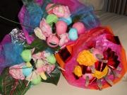 artisanat dart fleurs original bonbons cadeau rose : bouquet gourmand