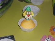 tableau personnages clown artiste cirque bonbons : cake clown
