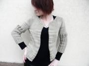 art textile mode gilet femme gilet original createur de mode creation unique : Gilet manches bouffantes