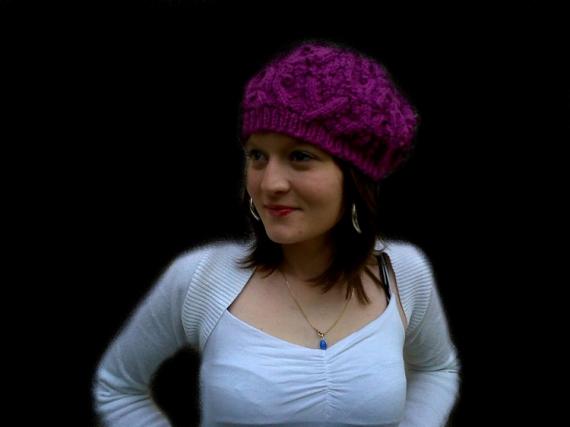 ART TEXTILE, MODE béret béret irlandais accessoire casquette  - béret maille irlandaise