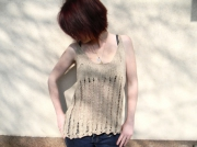 art textile mode top ajoure top passion top 38 fait main : Top ajouré fait main