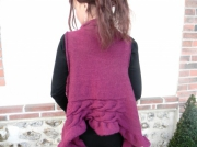 art textile mode gilet femme gilet originale mode femme fait main : Gilet virevolte taille 40-42