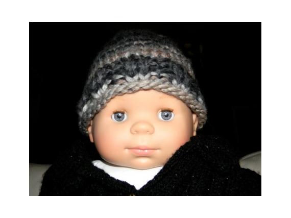 ART TEXTILE, MODE bonnet bébé mode bébé idée cadeaux fait main  - Bonnet bébé 6-9mois