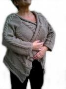 art textile mode : long gilet casual
