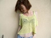 art textile mode debardeur femme fait main unique original : débardeur ample