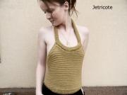 art textile mode top original unique mode femme fait main : top do nu