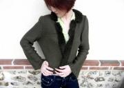 art textile mode veste fourrure veste polaire creation fait main createur de mode : Veste col fourrure