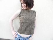art textile mode debardeur femme top ete fait main createur de mode : Débardeur alexa fait main