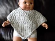 art textile mode poncho bebe idee cadeaux naissance original : poncho bébé glacier fait main