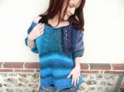 art textile mode pull femme pull tricote main pull originale pull fantaisie : Pull tricoté main romantique