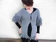 art textile mode gilet fourrure gilet femme fait main createur de mode : Gilet coup de froid fourrure