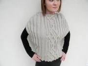 art textile mode debardeur femme poncho femme creation fait main createur de mode : débardeur poncho