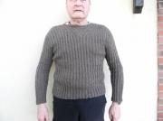 art textile mode pull homme fait main createur de mode mode homme : Pull cintré homme