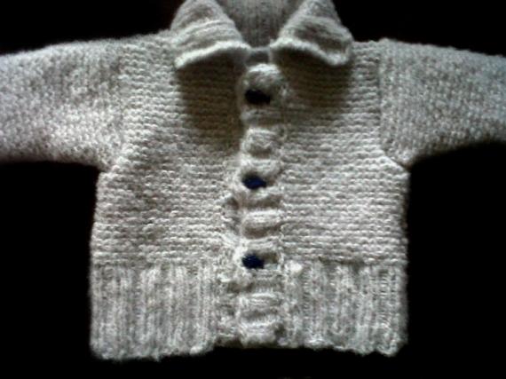 ART TEXTILE, MODE paletot veste bebe cadeaux naissance noel  - paletot douceur naissance