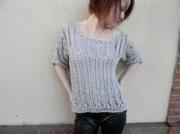 art textile mode top femme top ajoure idee cadeaux fait main : Top glossy brillant