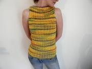 art textile mode debardeur original fait main tricot maison debardeur personnali : debardeur soleil royale