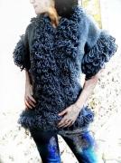 art textile mode autres pull gilet gilet fourrure gilet kimono : gilet fourrure