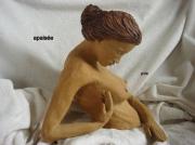 sculpture personnages femme nue bain relaxation : apaisée