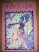 autres personnages manga papillon broderie carte : Carte manga fille