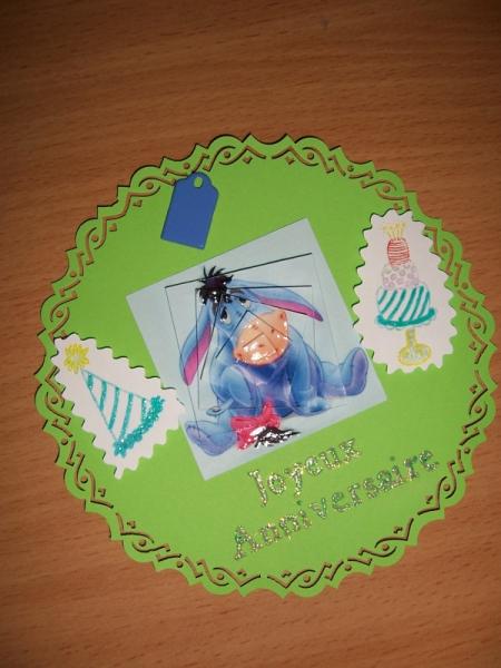 AUTRES enfant bouriquet anniversaire ronde  - Carte bouriquet