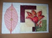autres fleurs lys feuille perle beige : Carte lys