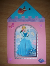 Carte princesse cendrillon