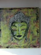 tableau personnages tableau bouddha : Bouddha vert