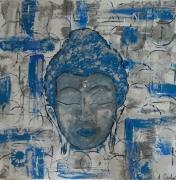 tableau personnages tableau bouddha : Tableau bouddha bleu
