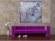 tableau abstrait violet design : VIOLET
