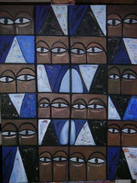 TABLEAU PEINTURE  - Les yeux