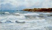 tableau marine vagues ecume mer : Vagues