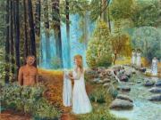 tableau autres mythologie odyssee ulysse nausicaa : Ulysse et Nausicaa