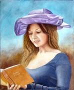 tableau personnages portrait lectrice jeune fille romantisme : La lectrice