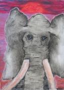 tableau animaux elephant : le solitaire
