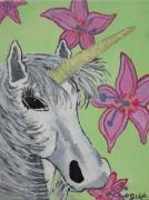 tableau animaux cheval licorne : licorne2