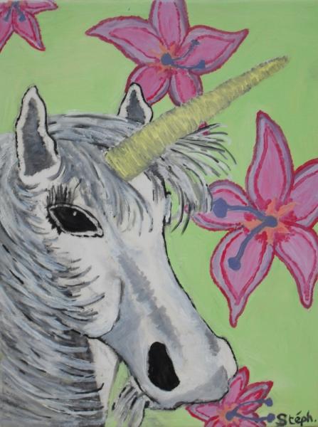 TABLEAU PEINTURE cheval licorne Animaux Peinture a l'huile  - licorne2