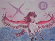 tableau animaux aile cheval fantastique : doux rêves
