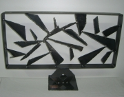 artisanat dart abstrait art contemporain noel acier abstrait : labyrinthe en acier brossé