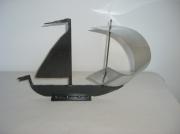 sculpture marine voile mer deco acier : Voilier en acier et inox